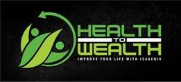 Health To Wealth logo Black